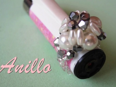 DIY - Anillo facil con arroces perlas y tupisDIY - Easy ring with rice pearls and tupis