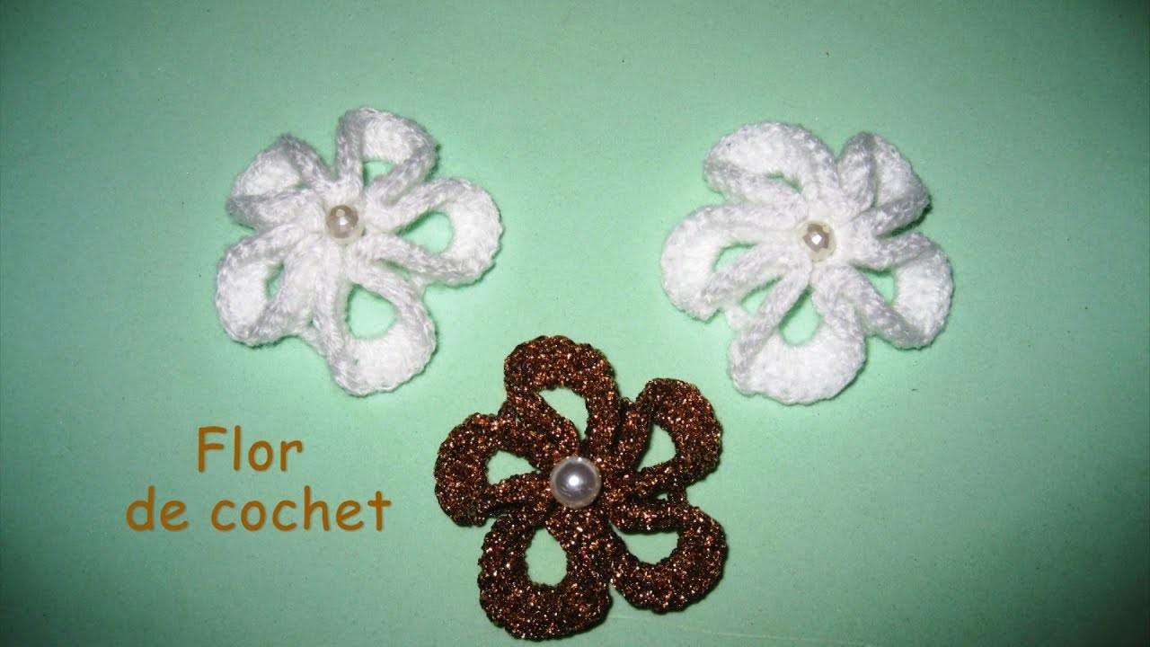 DIY - Aplique - Flor de crochet DIY - Aplicar - Crochet flower