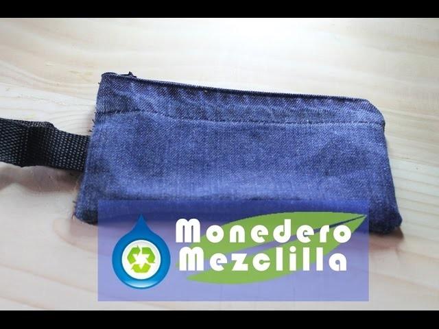 DIY como hacer un Monedero de mezclilla