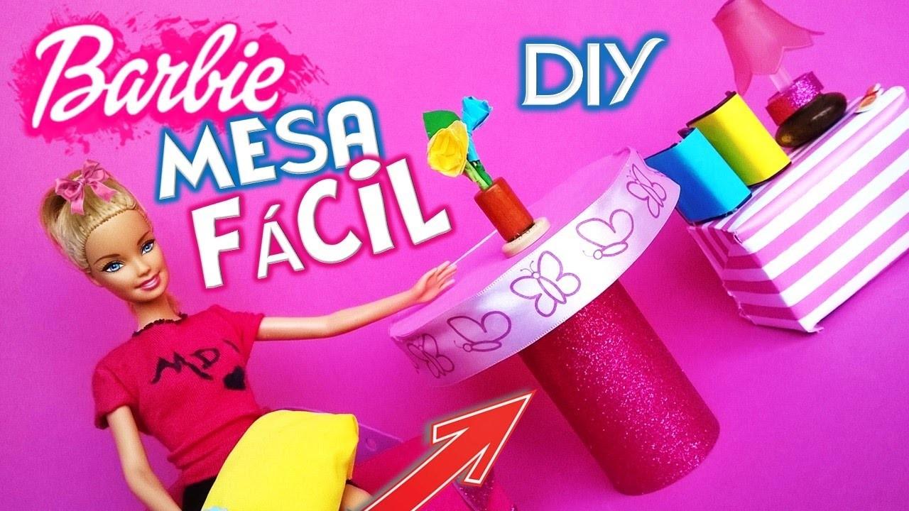 DIY| Como hacer una MESA para tus muñecas BARBIE | MANUALIDADES con muñecas