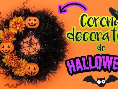 DIY: CORONA decorativa | ESPECIAL de HALLOWEEN