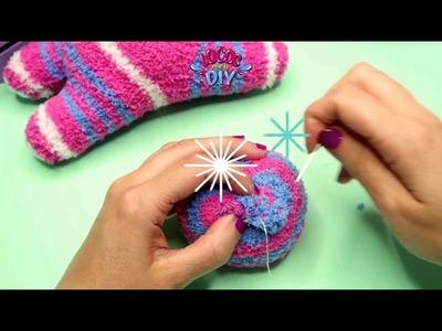 DIY Unicornio de Peluche hecho con calcetines   manualidades faciles para niños