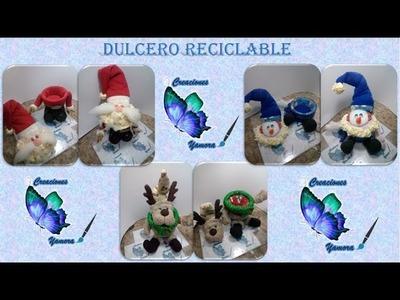 Dulcero navideño en reciclaje