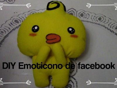 Emoticono de facebook. DIY peluche emoticono del pollito de facebook