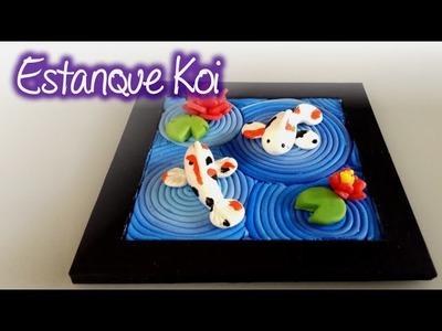 Estanque Koi de Pasta Francesa  o Porcelana Fría ( Cold Porcelain koi Pond )