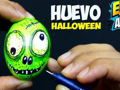 FUN HALLOWEN Huevo Sorpresa ZOMBIE DIY - Como Dibujar un Zombie - Coloring pages - Easy Art
