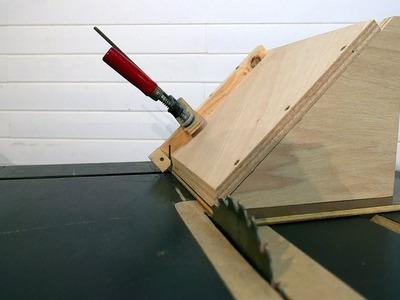 Guía para cortar a 45 grados sin inclinar el disco. Primer prototipo