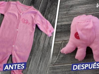 Haz juguetes para tu bebé con su ropa vieja