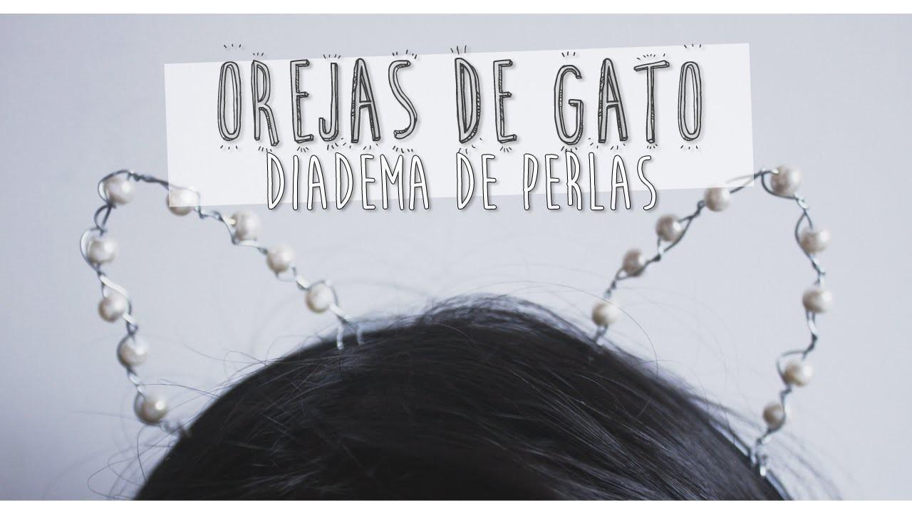 HAZ TUS PROPIAS OREJAS DE GATO CON PERLAS!!