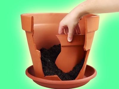 Hermoso: transforma tu maceta rota en un jardín de ensueño