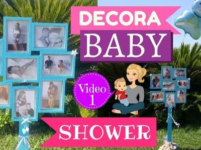 IDEAS PARA DECORAR BABY SHOWER - MARCO DE FOTOS PASO A PASO
