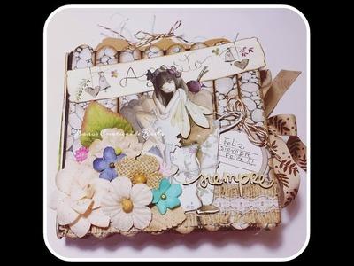 Mini álbum Multibolsillo realizado con sobres y palitos de helados.