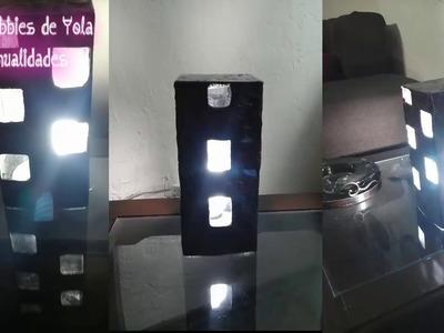 Moderna lámpara  con una caja. Los Hobbies de Yola ❤????✂