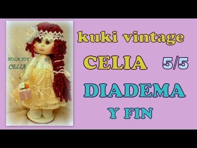 Muñeca kuki celia, hacemos la diadema y final del curso ,video-279