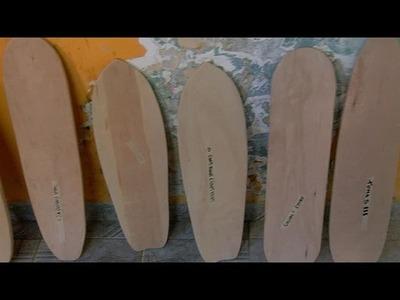 Niños y jóvenes aprenden a construir su propio skate con madera reciclada