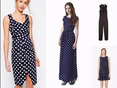 Outfits con vestidos de lunares