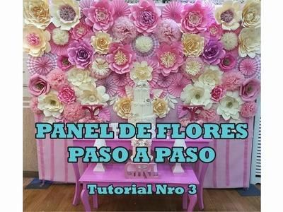 PANEL DE FLORES FACIL Y RAPIDO