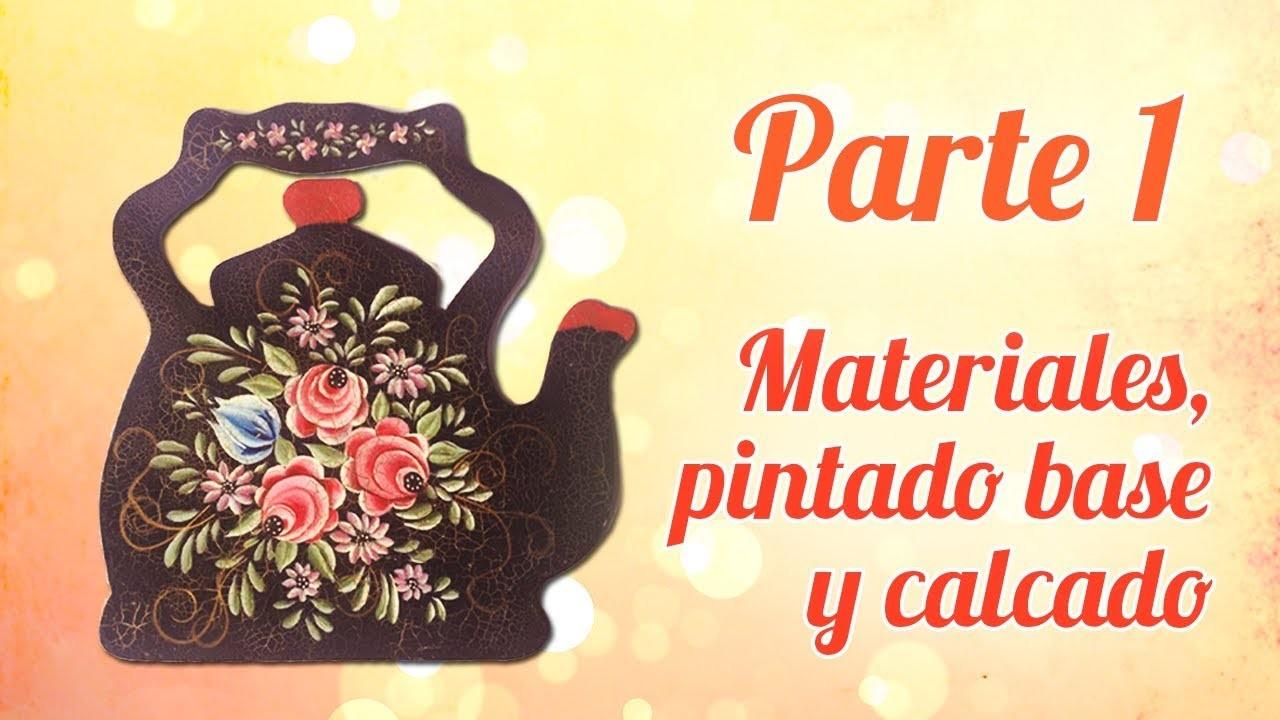 Pintura de Rosas sobre Madera  - Parte 1: Materiales, Pintado base y Calcado