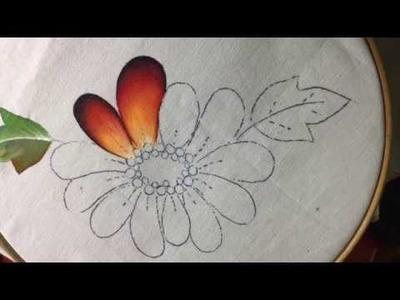 Pintura En Tela Flor Con Cony