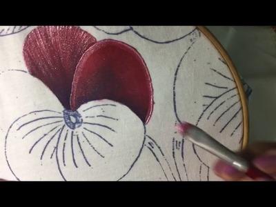 Pintura En Tela Flores # 1  Con Cony
