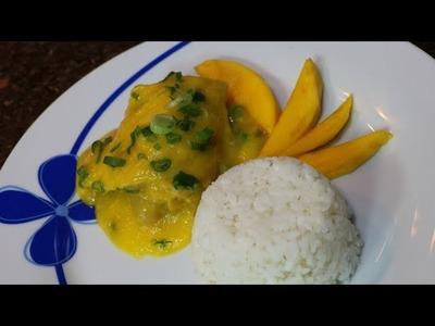 Salsa de Mango con Pollo fácil de preparar sin grasa