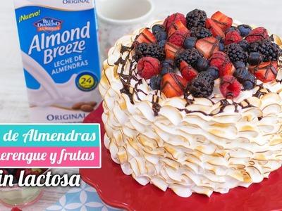 TARTA DE ALMENDRAS CON MERENGUE Y FRUTAS | Sin lactosa | Quiero Cupcakes!