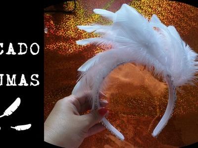 Tocado de plumas: DYI. Idea, Tutorial