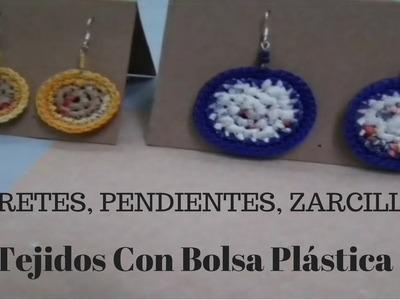 TUTORIAL COMO CORTAR BOLSAS y TEJER!! | Serie de aretes,pendientes y zarcillos