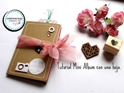 Tutorial Mini Album con una sola hoja * Creaciones Izzy