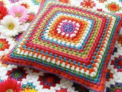 Almohadas tejidas en ganchillo