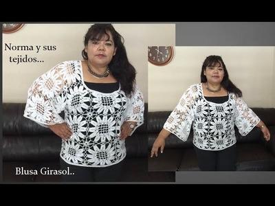 Blusa Girasol . parte 2