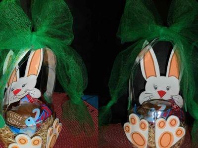 Canasta para Pascuas con una botella