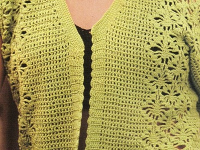 Chaleco a crochet con punta filet
