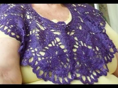 Clasico y facil cuello o collar a crochet.Final 3 de 3.