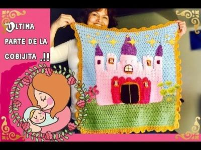 Cobijita   facil y bonita a crochet (ultima parte).  Tejiendo con Erica.!!