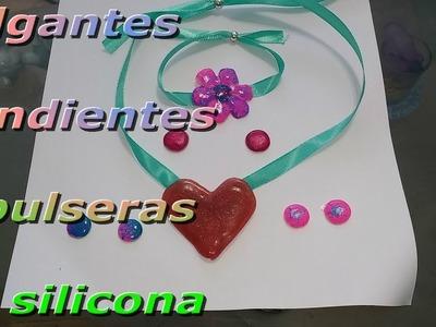 #colgantes #pendientes y #pulseras de silicona