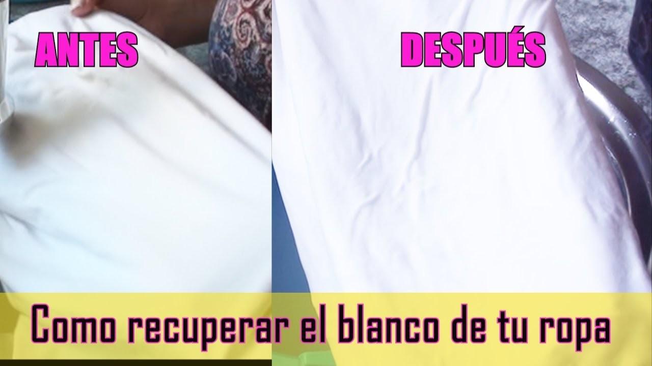 Cómo blanquear la ropa blanca con productos naturales | How to clean white clothes | EMDG
