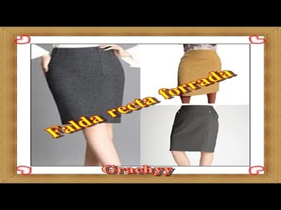 Como forrar una falda con cierre