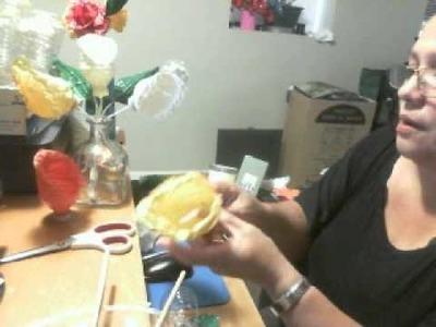 Como hacer flores de  cartuchos con botellas plasticas artemania por artemaria