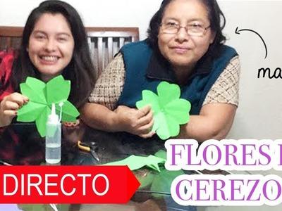 Como hacer flores de cerezo de papel (en directo)