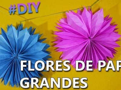 Como hacer FLORES DE PAPEL CHINA fáciles de hacer | Flores gigantes-colgantes paso a paso