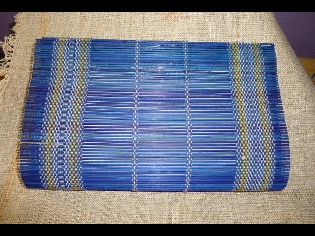Como hacer un bolso con un mantel de Bambu