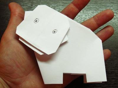 Como hacer un HIPOPOTAMO DE PAPEL | Figuras de papel paso a paso (Muy fácil)