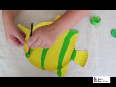 Cómo hacer un pez usando platos de cartón