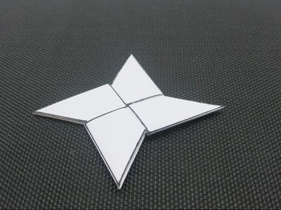 Como hacer un shuriken de papel