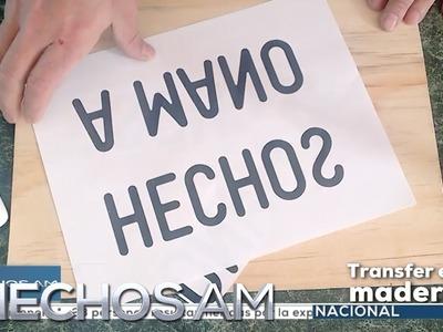 ¿Cómo hacer un transfer de letras a madera?
