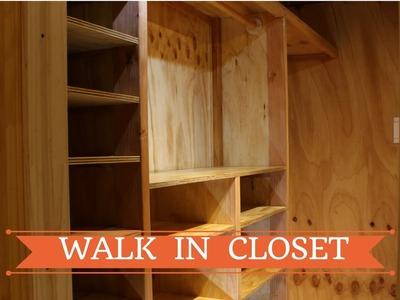 Como hacer un walk in closet -  parte 2