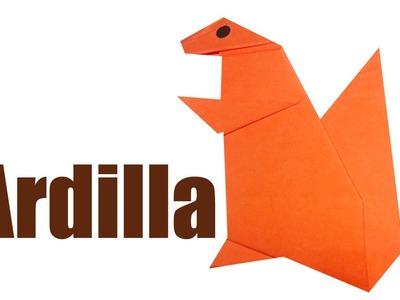 Como hacer una Ardilla de papel - ANIMALES DE PAPEL - origami Ardilla