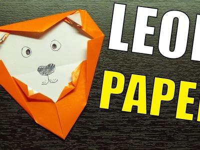 Como hacer una CARA DE LEON Super simpatica   Figuras de papel paso a paso MUY FACIL!