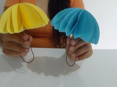 Como hacer una sombrilla de papel